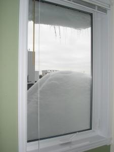 La vue par la fenêtre du travail