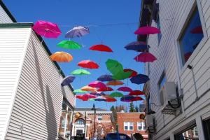Ruelle aux parapluies