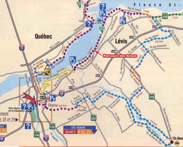 """Circuit """"Lévis - Fleuve et rivières"""""""