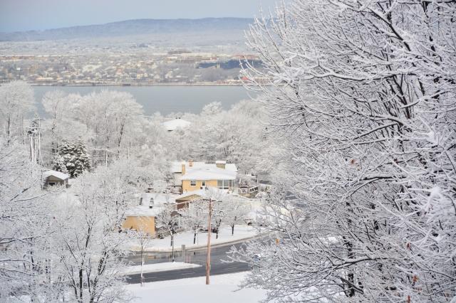 Lévis sous la neige